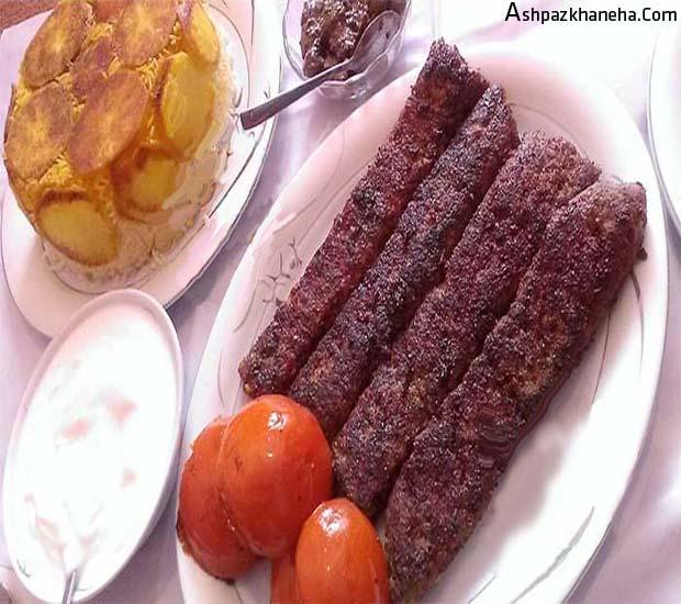 کباب تابه ای سرخ شده گوشت