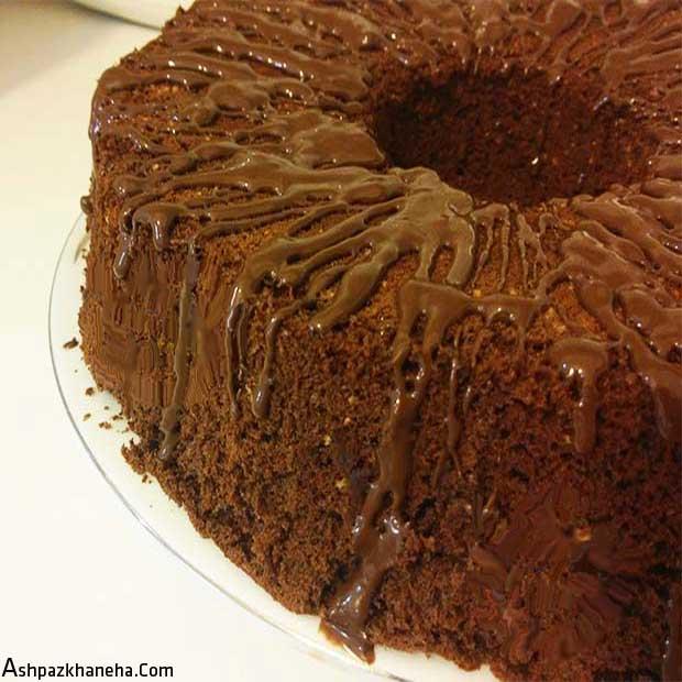 کیک شیفون نسکافه موکا شکلاتی