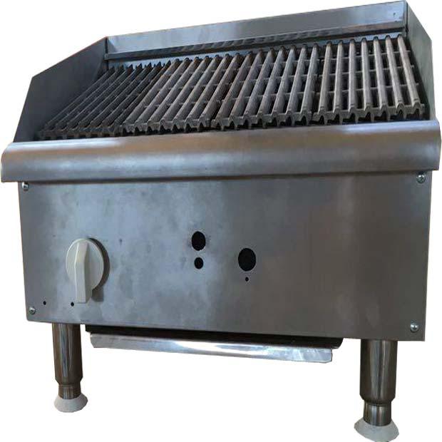 گریل ذغالی همبرگر زغالی رومیزی استیل