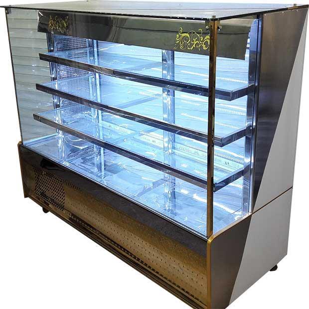 یخچال ویترینی مکعبی ایستاده طول190سانتیمتر نما سی ان سی